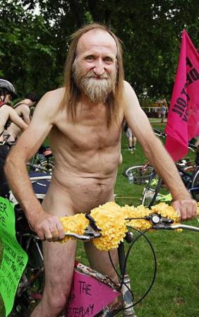 hippy on bike