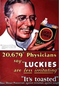 Lucky Strike cigarette ad