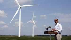 obama wind turbine