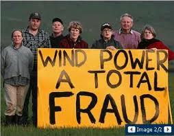wind farm protest