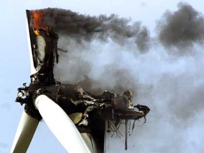 Feuer in Windkraftanlage