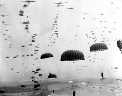Parachutes airborne invasion