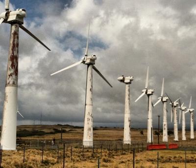 Hawaii rusting turbines