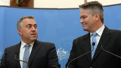 Joe Hockey and Mathias Cormann