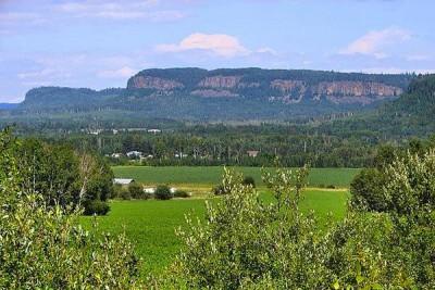 The Nor'Wester Mountain Range, as seen from Neebing Township, Thunder Bay District, Ontario, Canada.