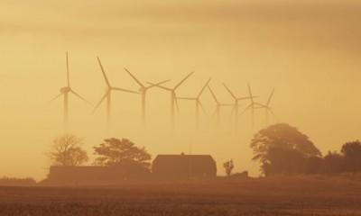 Wind energy in Denmark : wind turbines in Holstebro , Westjutland