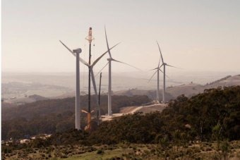 Construction of Gullen Range wind farm