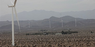 wind turbines around ocotillo