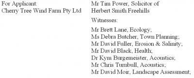 Cherry tree witness list