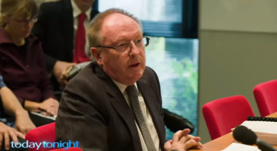 Steven Cooper giving evidence to the Senate Committee on wind farms