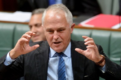 Minister for Communications Malcolm Turnbull during Question Time in the House of Representatives at Parliament House, Canberra Thursday, 5 June, 2014. (AAP Image/Gary Schafer) NO ARCHIVING