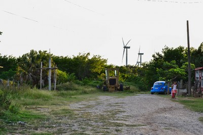Many homes have been surrounded by wind farms across the Isthmus of Tehuantepec.