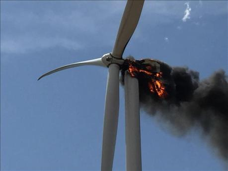 Texas turbine fire 08