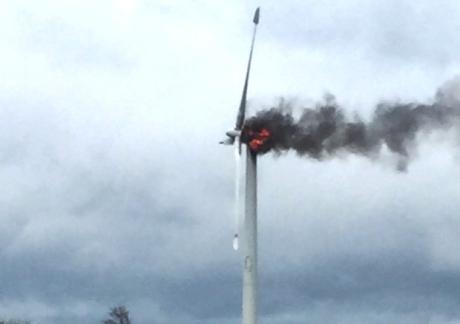 turbine fire Ireland