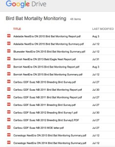 Google-Drive-Bird-Bat-Mortality-Reports
